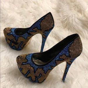Alba Shoes - Swarovski crystal high-heels
